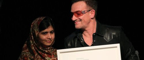 Malala Yousafzai Receives Amnesty International Ambassador Of Conscience Award In Dublin. / Read more:  www.huffingtonpost.com/2013/09/18/malala-amnesty-award_n_3946548.html?ncid=edlinkusaolp00000003&ir=Impact  / Picture : PETER MUHLY/AFP/Getty Images #u2NewsActualite #u2NewsActualitePinterest #new #news #actualite #Bono #U2 #PaulHewson #music #rock #picture #dublin #irish #ireland #AmnestyInternational