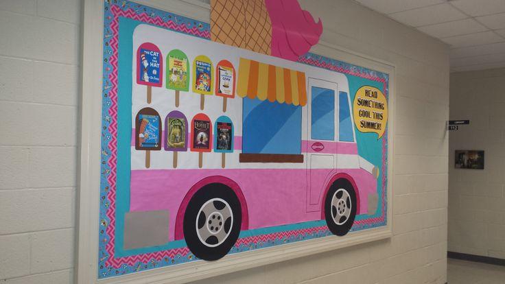 Classroom Wall Decor ~ Ice cream truck bulletin board boards summer