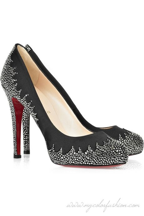 a88fa50a7b2 ... get christian louboutin pindera 120 crystal embellished pumps black  high heels with red soles and aef26