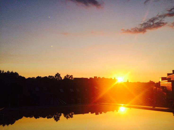 Trend Toller Blick auf den Sonnenuntergang aus der K che einer er WG Hamburg Niendorf