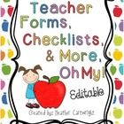 EDITABLE Teacher Forms!! Perfect for the first day!!  This has everything you will need for those first days back to school, Open House, or Back to School Night.  The best part is it's editable so you ...