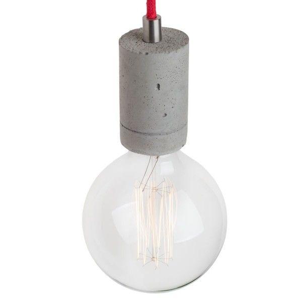 Industrialna lampa wisząca idealnie nadająca się do wnętrz loftowych. Wykonana z betonowej oprawki, podsufitki oraz kabla w oplocie. Lampa dostępna w różnych kolorach betonu oraz dowolną długością kabla (za dopłatą). Wyrób ręcznie robiony, dzięki czemu każdy egzemplarz jest unikatowy. Każda z...