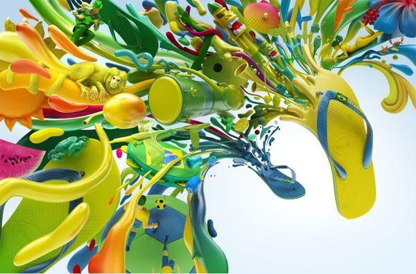 Colorful Havaianas Project by Colorsponge   Abduzeedo Design Inspiration & Tutorials: