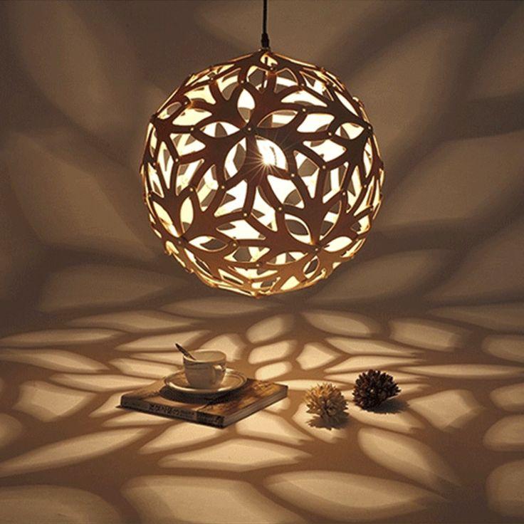 Cheap pendant light lamp, Buy Quality hanging pendant light directly from China pendant lights Suppliers: Modern Oak Wooden wood Global ball Creative Arts Minimalist DIY Fixtures Hanging Pendant lights Lamp Lighting E27 bulb Luminaire