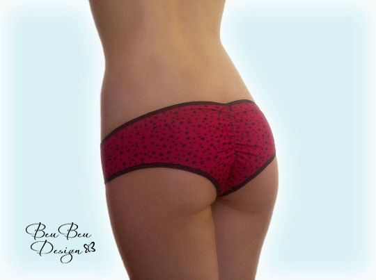 Star print hot pant panties briefs knickers by BeuBeuDesign