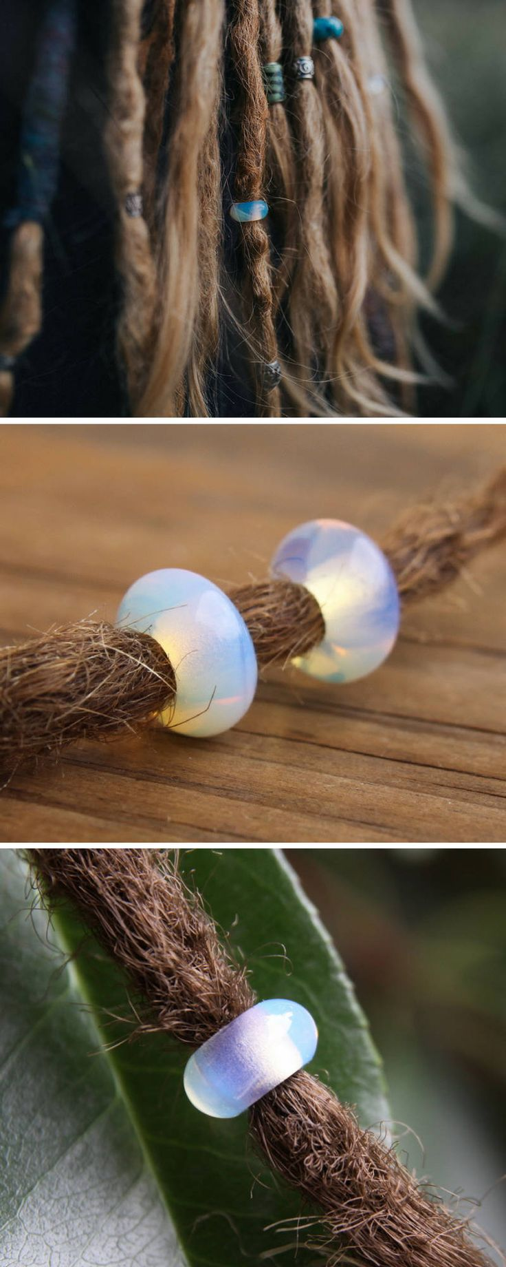 Opalite Dreadlock Beads - Beautiful shining Dread Beads - Gemstone Dreadlock Beads - Small Hole Dread Beads - Stunning Hair Beads - Dreadlock Jewelry - Jewellery - Dread Accessory - Pretty Dread Beads - #dreadbeads #dreadlockbeads #dreadjewelry #dreadlocks #dreads #dreadaccessory #beadsfordreads