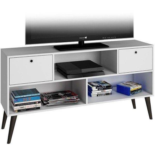 White Oak Tv Unit Part - 29: Uppsala 2-Drawer White Wood Frame TV Stand (200 BAM) ? Liked On