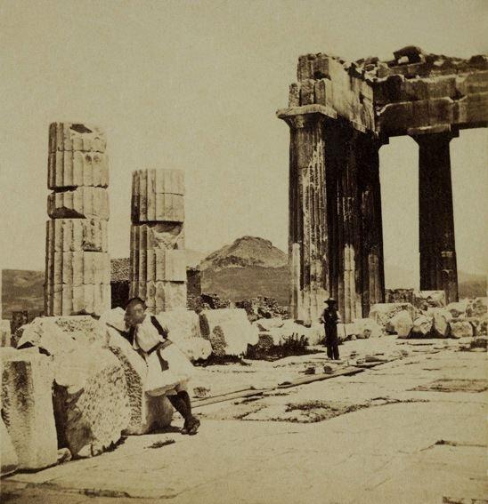 Παρθενώνας, 1865. Συλλογή Μουσείου Μπενάκη    Parthenon, 1865. Museum Benaki Collection