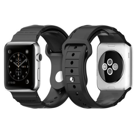$28 BUY NOW The Spigen Apple Watch strap is made from durable polymer, so it can take a beating. Lightweight and comfortable to wear, the strap is a more utilitarian alternative to Apple's own silicone bands. Spigen offers the strap only for the larger 42-millimeter Apple Watch.
