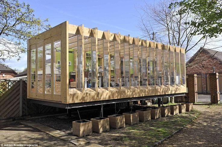 Greenhouse That Grows Legs - www.batstudio.co.uk    This flood proof building is a greenhouse that can be lifted off the ground to protect itself and its contents from flooding.
