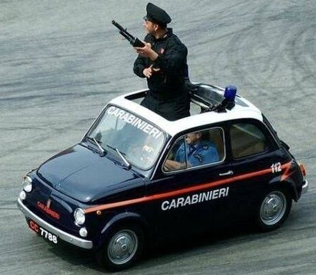 The old Italian police cars brought to you by http://www.facebook.com/ItalyMe
