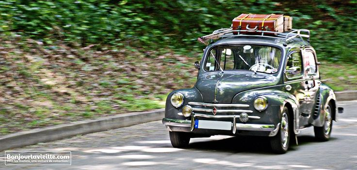 Elle est pas belle cette photo de #Renault #4CV ?!