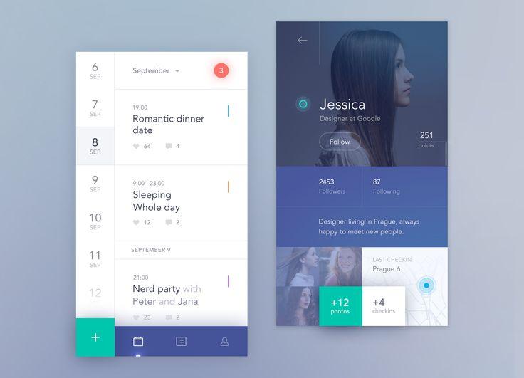Social calendar app mobile mobiby Jakub Antalík