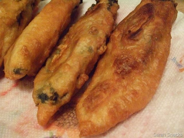 Hatch Chili Rellenos breaded in beer batter