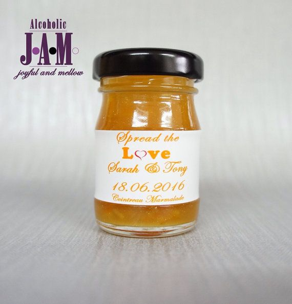 Wedding Favours. Unique Wedding Favours. by AlcoholicJams on Etsy