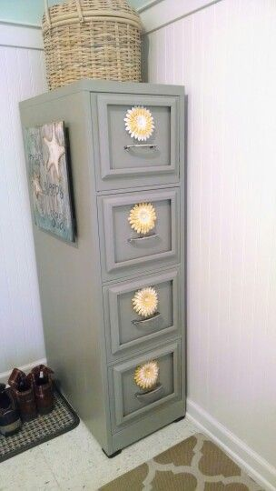 Painted file cabinet with flowers                                                                                                                                                      More