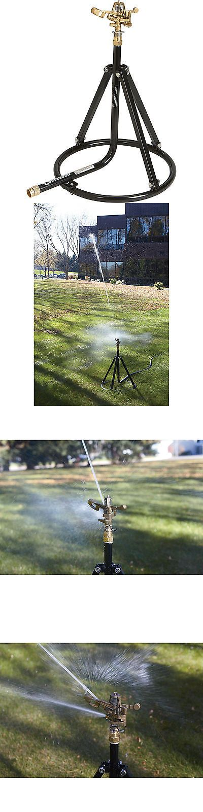 Lawn Sprinklers 20542: Strongway Tripod Sprinkler Round Base 3 4In Brass Head 2 Nozzles -> BUY IT NOW ONLY: $49.99 on eBay!