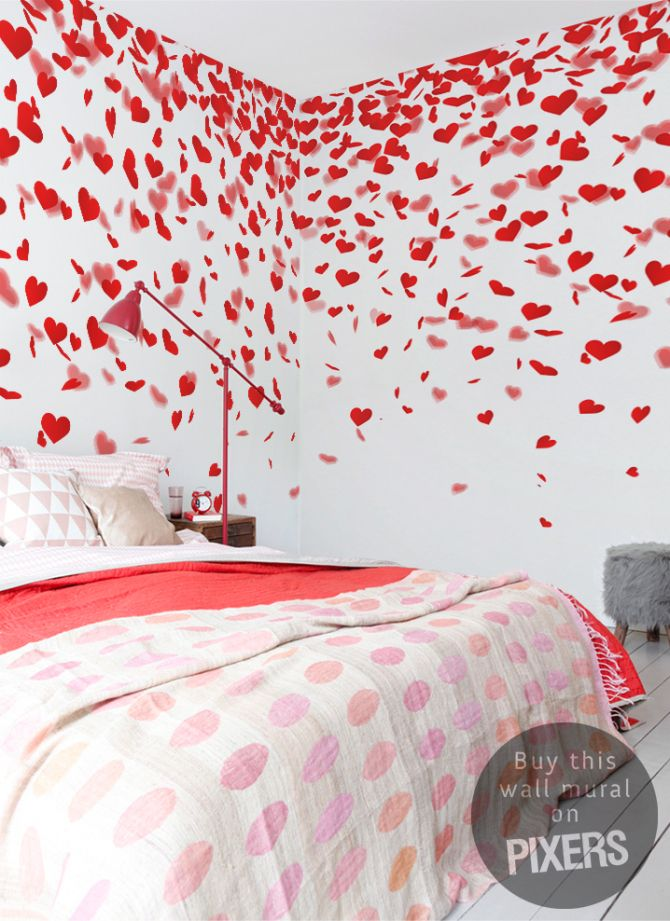 Wall mural for real lovers! <3  Love - inspiration wallmural, interior gallery• PIXERSIZE.com
