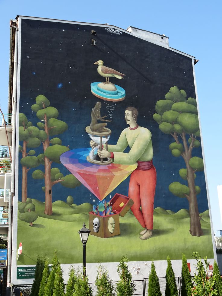 Mural autorswa WAONE | Mural, aut. WAONE #waone #mural #streetart #urbanart #lublin #poland #polska #travel #seeuinpoland