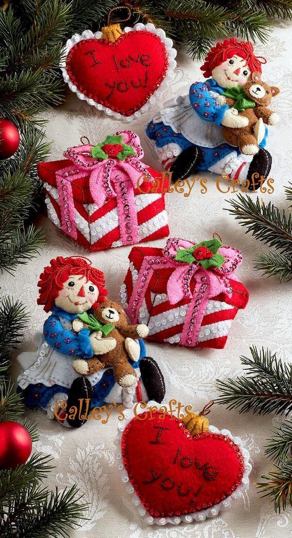 Bucilla Christmas Morning Raggedy Ann 6 Pce. Felt