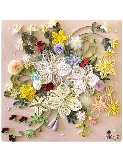 優美~香るユーチャリス 福永 早百合 - Botanical Quilling Japan