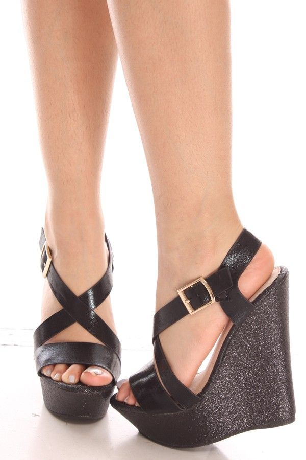 BLACK OPEN TOE SIDE BUCKLE SPARKLE PLATFORM WEDGE HEEL,Womens Wedge Shoes For Sale-Heels Wedges,Suede Wedges,Lace Up Wedges,Platform Wedges Shoes,Cutout Wedge Shoes,Sneaker Wedges,Booties Wedges,Cheap Wedge Sandals Shoes,Studded Wedges,Spiked Wedges,Strappy Wedges Shoes Online