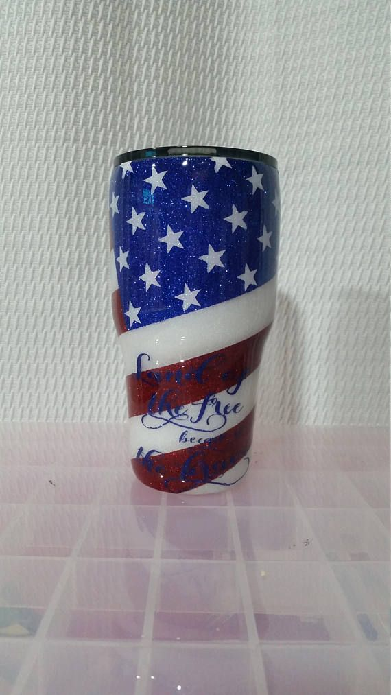 e1b40140497 ***FREE PERSONALIZATION*** No fireworks needed to light up the sky on the  4th of July if you have this cup. It is made with 3 different colors of  extra fine ...