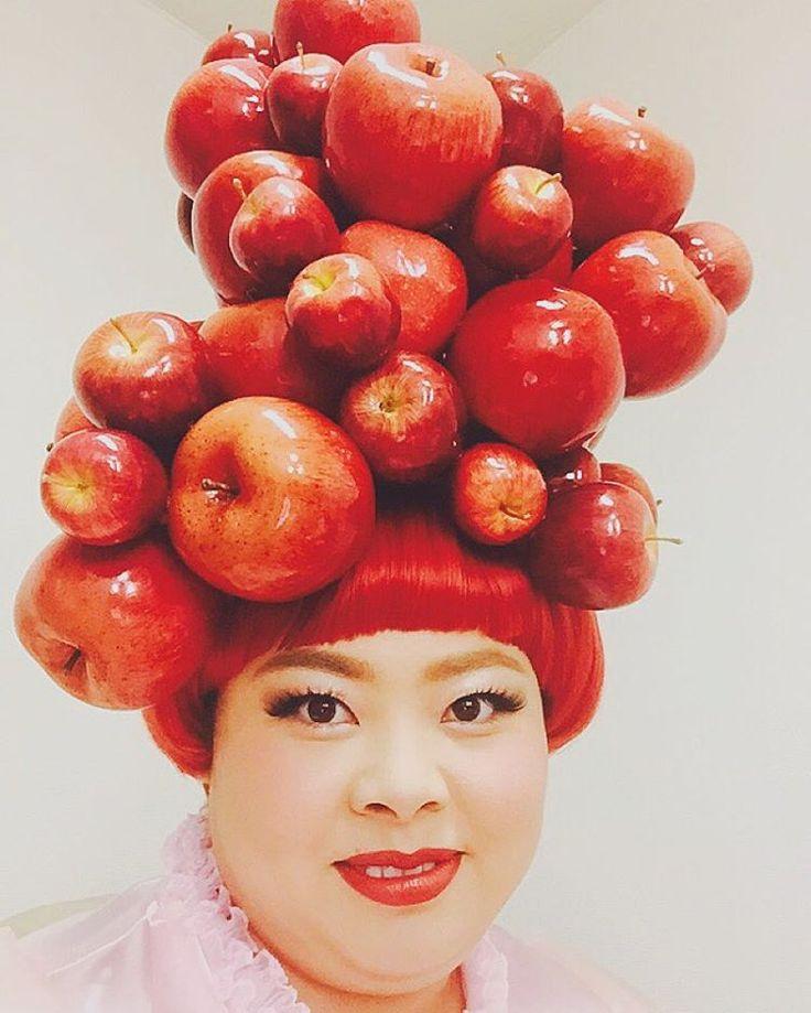 林檎姫だお🍎🍎🍎 Apple princess👑🍎😂 #青森りんご美味しい #偽物だよ #本物だったら首折れてるよ