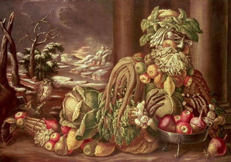 Winter 1, óleo de Giuseppe Arcimboldo (1527-1593, Italy)
