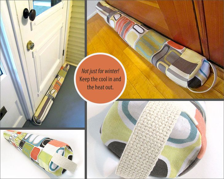 Door Draft Guard | Sew4HomeNot just for cold in the winter, but to keep the hot out in the summer.