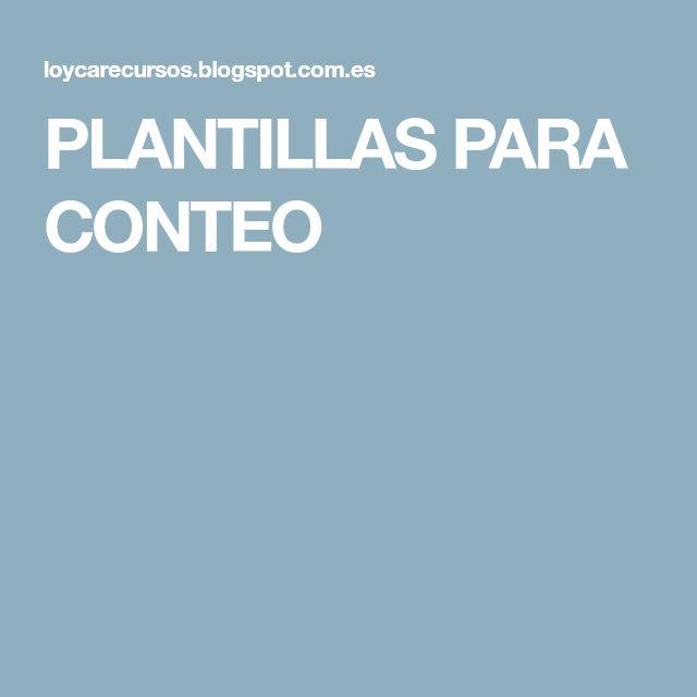 PLANTILLAS PARA CONTEO