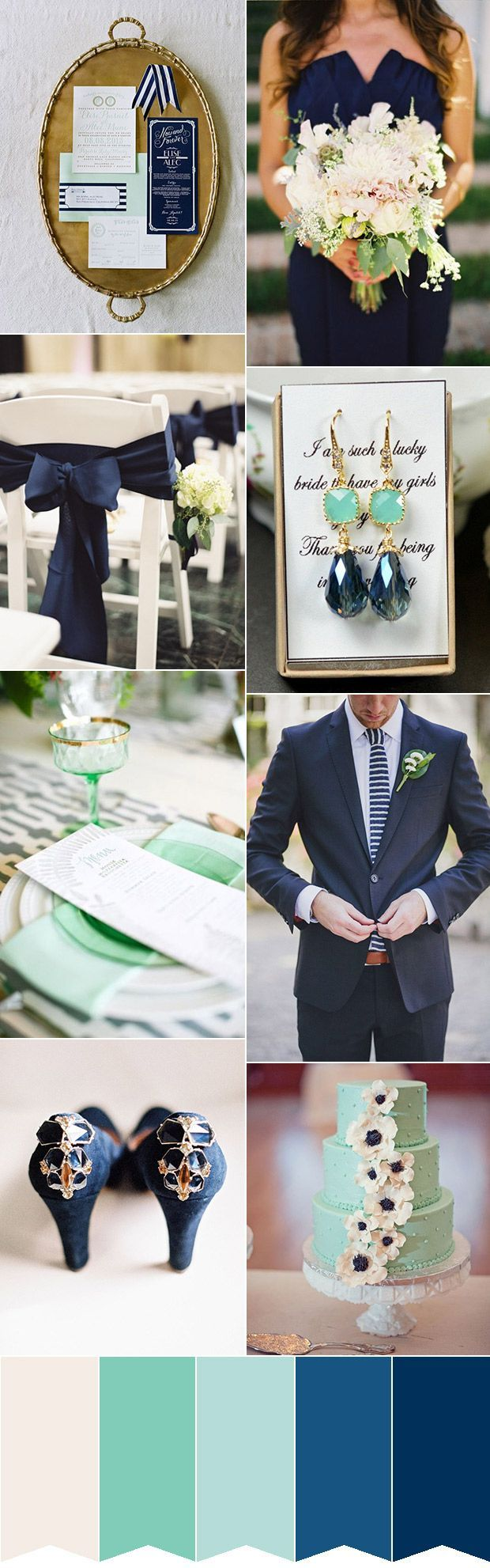 Fresh Mint and Navy Colour Palette | www.onefabday.com