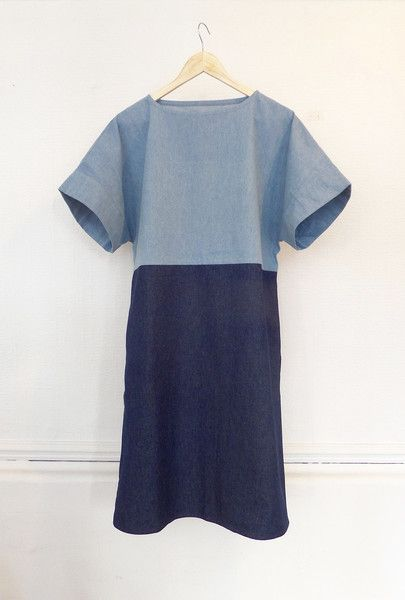 THE FULWOOD - PULL-ON SHIFT DRESS PDF PATTERN easy dress sewing pattern for wovens or knits.