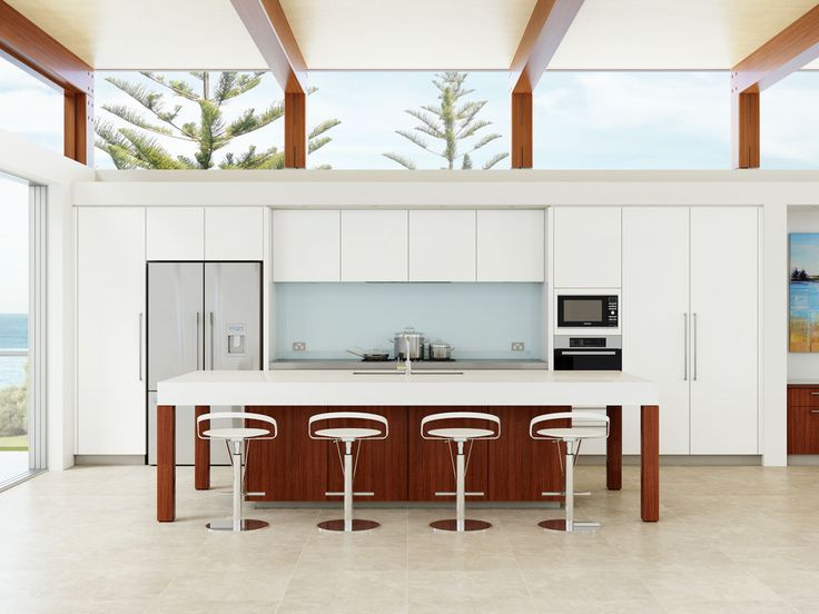 A Light Filled Beachside Home With Designer Kitchen From Dan Kitchens Near