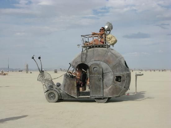 A Beyond Thunderdome Canned Snail.  In Black Rock Desert, Nevada--- just had to post this on here- so interesting!!