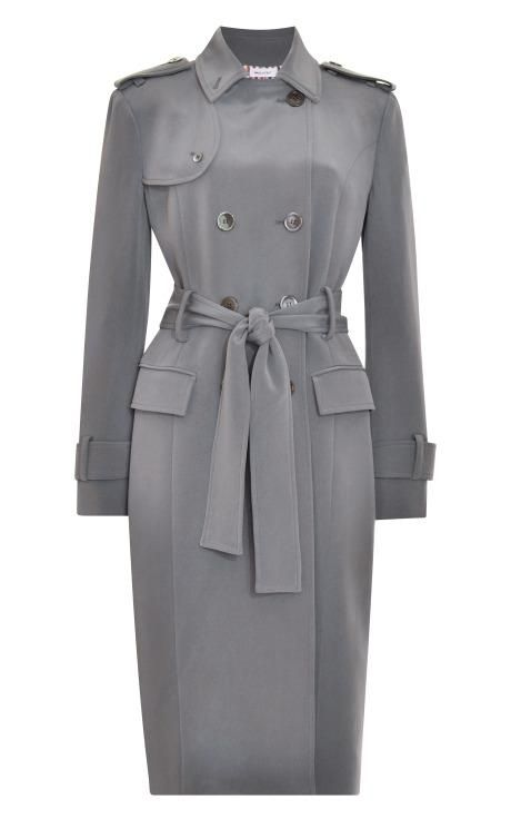 Silk-Crepe Trench Coat by Thom Browne Now Available on Moda Operandi