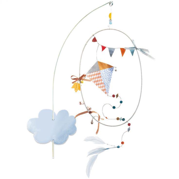 Mobile mural Dans le ciel : Little big room by Djeco - Mobile en carton - Berceau Magique