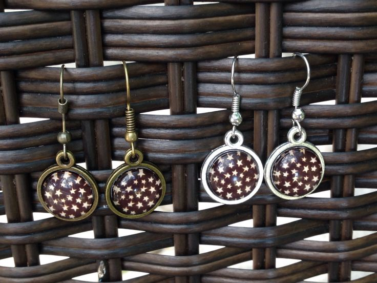 Starry Night Sky Earrings - 12mm - Dangle, Stud or Lever Back - pinned by pin4etsy.com