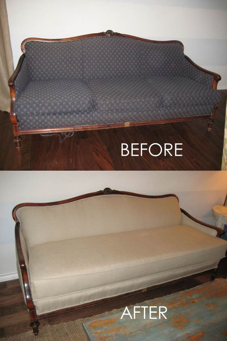 Diffendwelling: Antique Couch Reupholstery