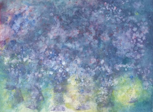 A painting by talented Iris Grace a 5 year old autistic child.... Painting called Hiatus. My current favourite....A mini monet this is...