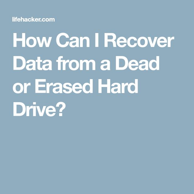 how to read a hard drive from a dead computer