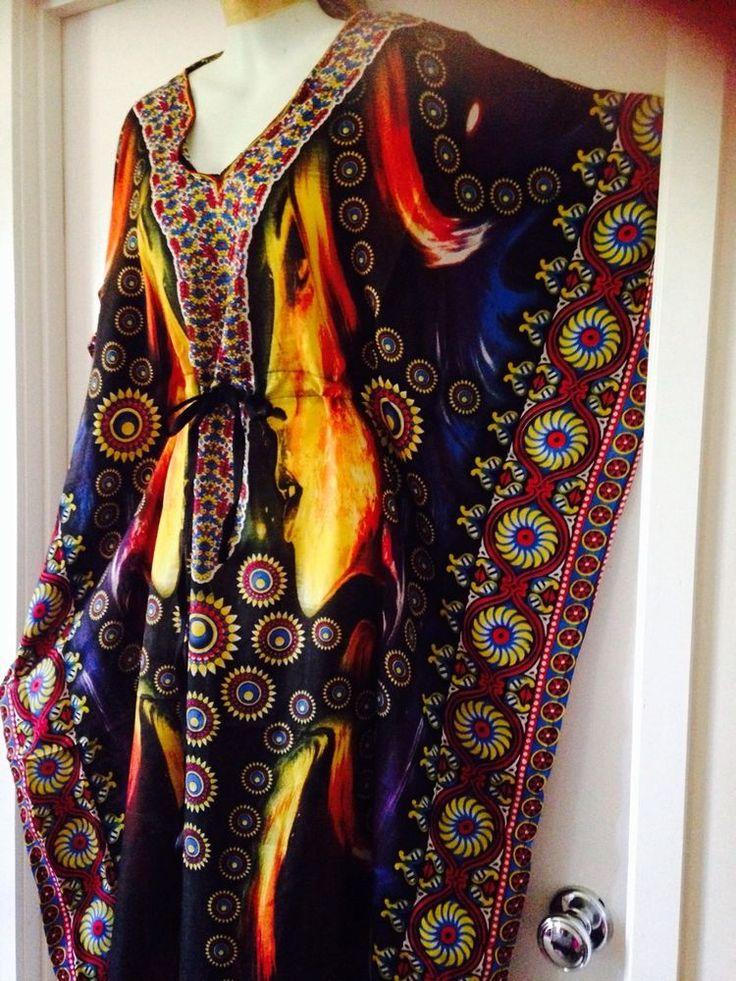 Autumn Colour Long Caftan One Size 16 18 20 22 24 26