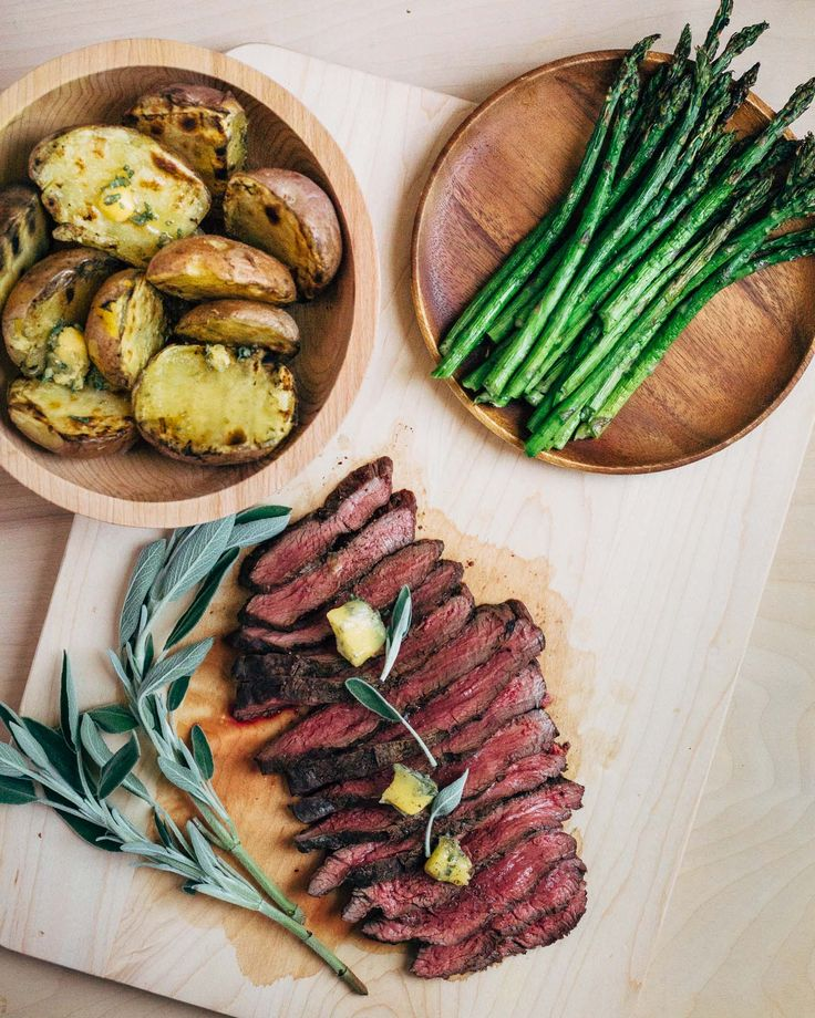 grilled merlot steak with sage butter // brooklyn supper