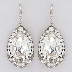 Cheryl King Couture Large Crystal Teardrop ... Lovely