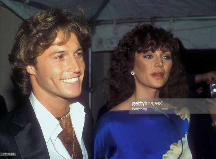 1981 file photo of Victoria Principal & Andy Gibb attending the Peoples Choice Awards