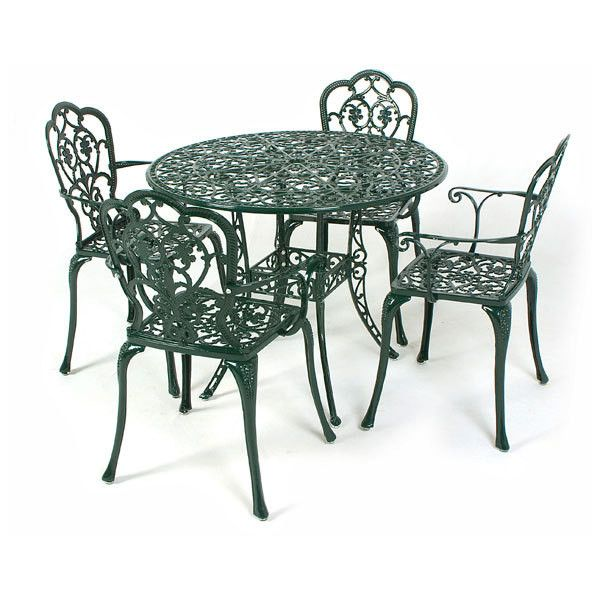 17 best ideas about cast aluminium garden furniture on for Metal garden table and chairs