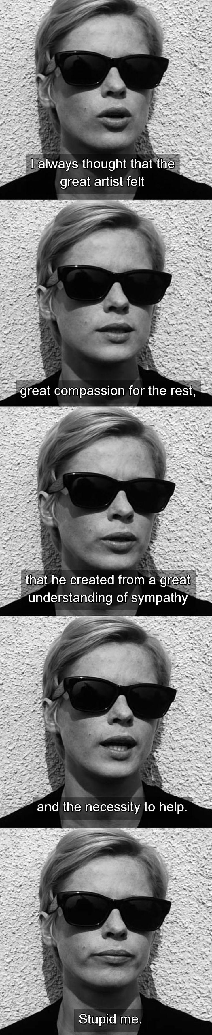 Bibi Andersson in Ingmar Bergman's Persona