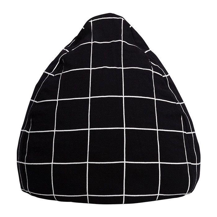 Black Grid Bean Bag – La De Dah Kids