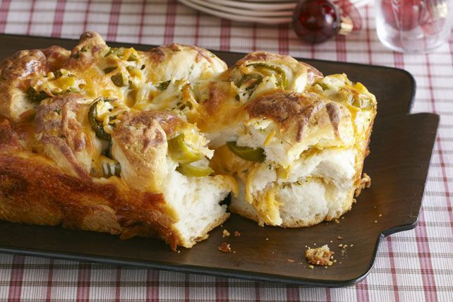 That can of refrigerated biscuits is hoping you'll use it to make this Mexican Monkey Bread—layered with butter, jalapeño peppers and two kinds of cheese.
