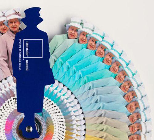The Queen Pantone Guide.Pantone Guide, Matching Colours, Queens Pantone, The Queen, Guide Heehe, Design Humor, 60 Years